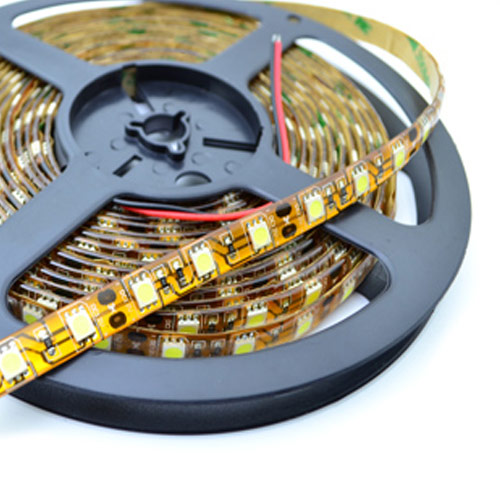 Single Row Series DC12/24V 5050SMD 300LEDs Flexible LED Strip Lights Waterproof IP65 Lighting 16.4ft Per Reel By Sale
